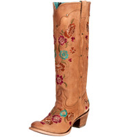 Women's Corral Honey Multi Floral Embroidery Cowgirl Boots