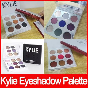 Kylie Cosmetics Jenner Kyshadow eye shadow Kit Eyeshadow BRONZE and BURGUNDY Palette Preorder Cosmetic 9 Colors Free Shipping (20 A LOT)