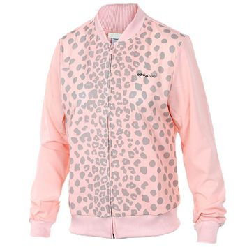 ADIDAS Women Fashion Print Sport Cardigan Jacket Coat Windbreaker