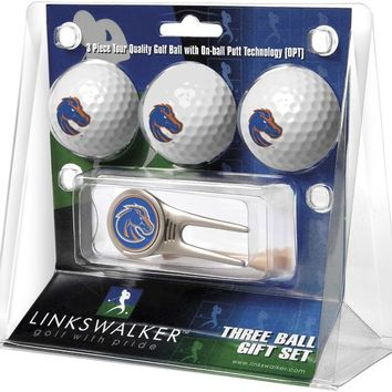Boise State Broncos Cap Tool 3 Ball Gift Pack