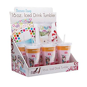 16 oz. Photo Acrylic Tumbler with Straw - 6 Pack
