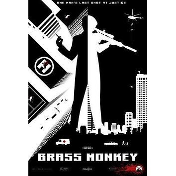 Brass Monkey Movie poster Metal Sign Wall Art 8in x 12in