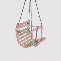 Wooden swing for baby - painted