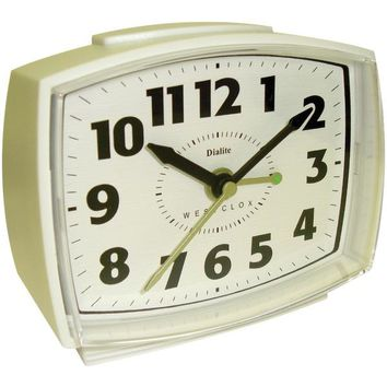 Westclox(R) 22192 Electric Alarm Clock with Constant Lighted Dial