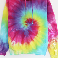 Hawaiian Punch Tie Dye (Pom Pom Hoodie - Ready for Dispatch)