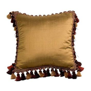 Canaan Company P-888-BH Silk-Suede Square Pillow