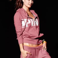 Perfect Full-Zip Hoodie - PINK - Victoria's Secret