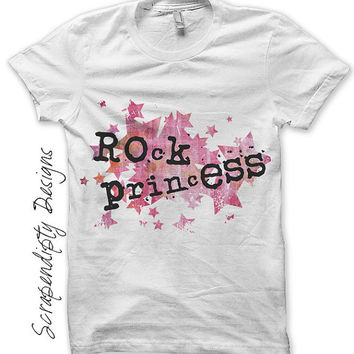 Rock Princess Iron on Transfer - Rock Star Iron on Shirt PDF / Rock and Roll Birthday / Kids Girls Clothing Tops / Rock Baby Shower IT172