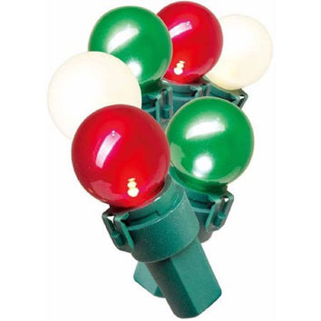 Holiday Time Lite-Lock LED Pearl-ized Glass G15 Christmas Lights, 70 Count