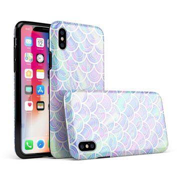 Iridescent Dahlia v9 - iPhone X Swappable Hybrid Case