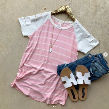 Carry on Pink Striped Top