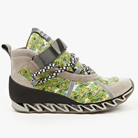Bernhard Willhelm x Camper Together Mens Taupe Smiley Print High Top Sneakers