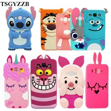 For Samsung Galaxy J5 Case New Unicorn Cupcake Stitch Minions Cat Silicone Cartoon Cover Coque For Samsung J5 2015 J500 SM-J500F