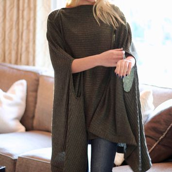 Pocketed Poncho