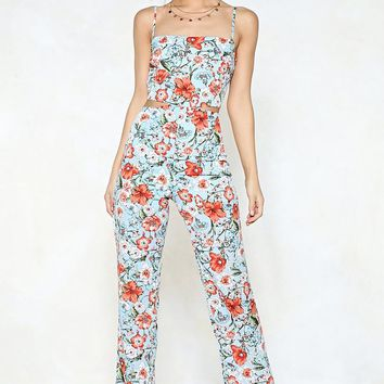 Grow Up Floral Jumpsuit