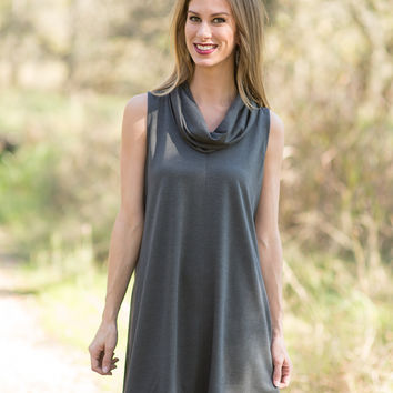 Autumn Dreams Dress - Charcoal
