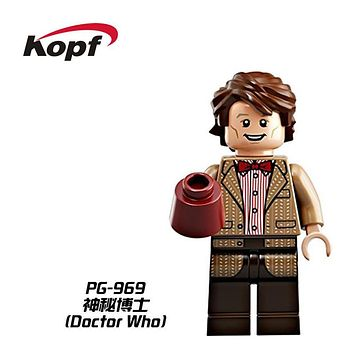 Single Sale Super Heroes Mysterious Doctor Who Weeping Angel Clara Oswald Bricks Building Blocks Best Children Gift Toys PG969