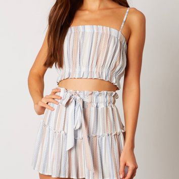 cotton candy la - on the stripe two piece set - cobalt
