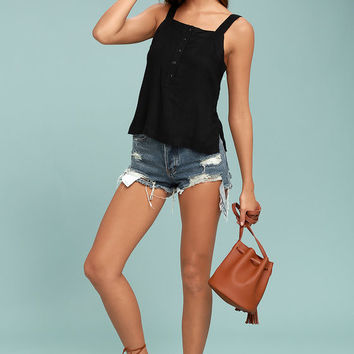 RVCA Changeling Black Tank Top