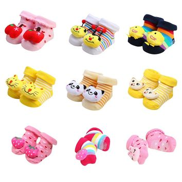 Anti-Slip Cotton Cartoon Animal Slippers