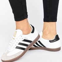 adidas Originals White And Black Samba Og Sneakers at asos.com