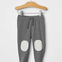 Knee Patch Footed Pants