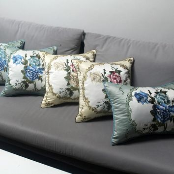 Chinese vintage style decorative silk touch embroidery seat pillow cases cover