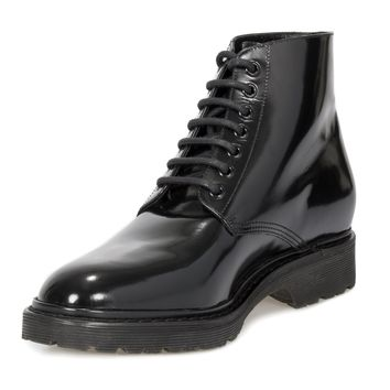 Saint Laurent Army Black Patent Leather Boots - Size 41