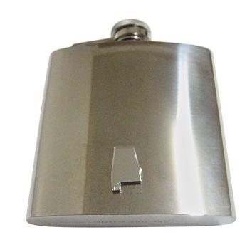Alabama State Map Shape 6 Oz. Stainless Steel Flask