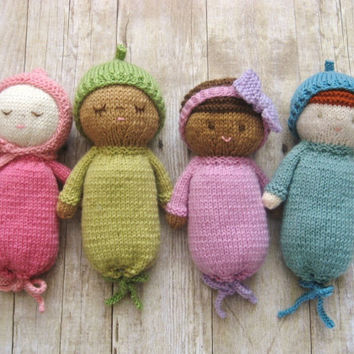 Amigurumi Knit Baby Doll Patterns Digital Download