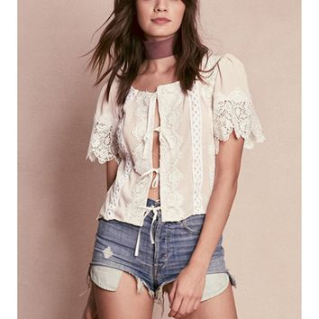 For Love and Lemons Hayley Tie Top | Boutique To You