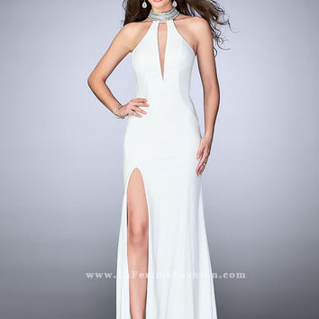 La Femme 24353 Open Back Prom Dress