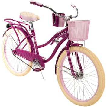 "Huffy® 24"" Nel Lusso™ Girls' Cruiser Bike, Purple - Walmart.com"