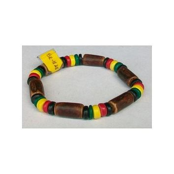 Rasta Color Coconut Bracelet