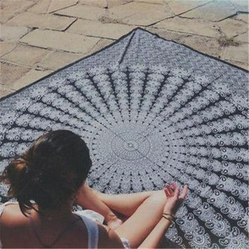DCCKJG2 2016 NEW Gigantic Mandala Tapestry Wall Hanging Beach Summer Pool Shower Towel Blanket