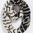 infinity scarf in contrast ethnic pattern