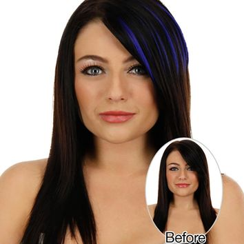 Pretty Girl Clip On Clip In Front Hair Bang Fringe Hair Piece Thin Wig