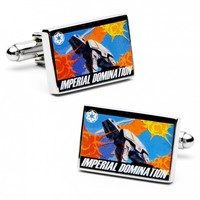 Star Wars Mens Imperial Domination Propaganda Poster Cufflinks with Gift Box