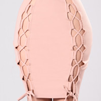 Lace It Up Skirt - Blush