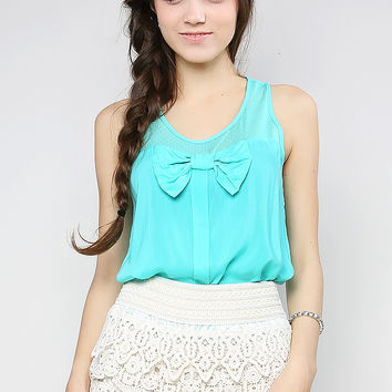 Ribbon Detail Tank Top