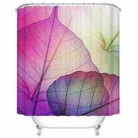 Artistic Printed Waterproof Mouldproof Shower Curtain - Light Purple S