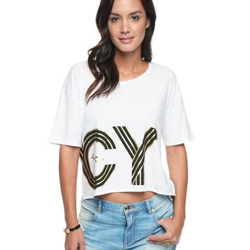 Oversized Wrapped Juicy Graphic Tee by Juicy Couture