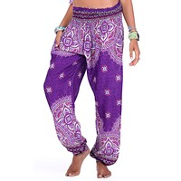 Andromeda Purple Goddess Mandala Pants