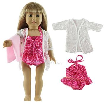 Swimming Pool beach 1 Set Swimming Suit Outfit Doll Clothes for 18'' American Girl A47Swimming Pool beach KO_14_1