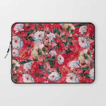 Rose Red Laptop Sleeve by RIZA PEKER