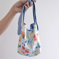MISS Plant, extra small shopping bag, children handbag, simple everyday reversible market bag