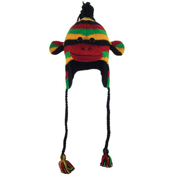 Rasta the Sock Monkey Peruvian Knit Hat