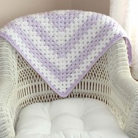 Blankets for a Baby Shower Gift, Handmade, Purple and White, Crocheted Baby Blankets, Newborn, Crocheted Blanket, Baby Blankets, Baby Gift