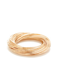 Rose Gold Interlocking Bangle Bracelet