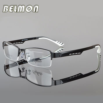 BELMON Spectacle Frame Eyeglasses Silhouette Men Computer Optical Eye Glasses Frame For Male Transparent Armacao Oculos de RS050